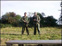 Dave and Chris with their M1's