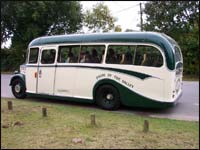 A bus used in filming